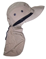 Tropic Hats Men's Wide Brim Safari/Outback Hat With Neck Flap