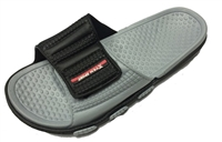 The Blas Men's Rubber Slide Sandal Velcro Strap Beach or Shower