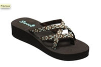 Women's Ladies' Mush Style Flip Flops Comfort Thong Sandals with Wedge