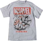 Adult Mens T-Shirt Avengers Assemble, Gray (Florida Namedrop)