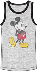 Boys Tank Nostalgia Mickey Mouse, Gray Black