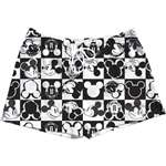 Adult Womens Pajama Short Checkers Mickey, White