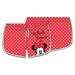 Junior Minnie Peeking Short, Red Polka Dot