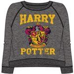 Junior Crew New Team Harry Potter Long Sleeve Pullover, Charcoal Gray
