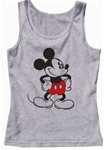 Womens Pajama Tank Top Old School Mickey, Grey Heather