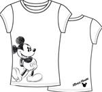 Womens Fashion T Shirt Bold Mickey, White