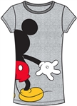 Junior Mickey Mouse Back View Fashion Top, Gray