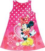 Girls Sublimated Dress Minnie Mouse Love Heart