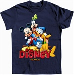 Boys T Shirt Happy Mickey Trio, Navy (Florida Namedrop)