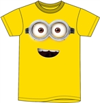 Youth Unisex T Shirt Minions Happy Face Tee, Yellow