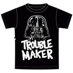 Toddler Boys Trouble Maker Darth Vader Tee, Gray