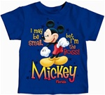 Toddler Boys T Shirt Boss Mickey, Royal (Florida Namedrop)