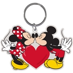 Mickey Minni Make Out Mice Lasercut Keychain