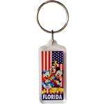 Mickey Flag Lucite Keychain (Florida Namedrop)