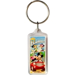 Mickey and Minnie Mouse Postcard Keychain (Florida Namedrop)