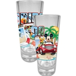Mickey Mouse and Friends Florida Postcard Collector Glass (Florida Namedrop)