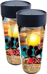 Sunset Two Mickey Mouse Minnie Mouse Travel Mug