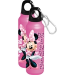 Sassy Hearts Aluminum Bottle Wide Mouth, Pink