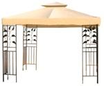 12' x 12' Beige Gazebo Canopy Replacement Top