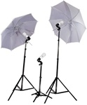 "32"" Umbrella Studio Lighting 3 Constant Lights w/ Carrying Bag"