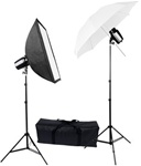 "High Quality 32"" Umbrella Flash Studio Lighting 2 Strobe Lights Softbox Kit"