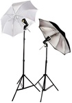 "High Quality 32"" Umbrella Flash Studio Lighting 2 Strobe Lights Kit"