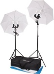 "High Quality 33"" Umbrella Constant Photo Lighting 2 Backdrops Kit"