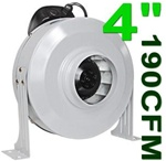"4"" Air Duct Fan 190 CFM Ventilation System"