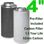 Indoor Grow Air Purifier Activated Charcoal Filter 4""