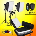 Brand New Professional 480 Watts Studio Flash Lights/Strobes Kit