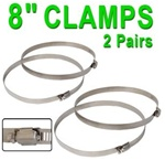 4x8 Adjustable Steel Clamp for Ventilation System
