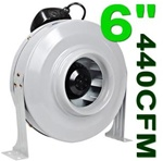 "6"" Air Duct Fan 440 CFM Ventilation System"