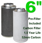 Indoor Grow Air Purifier Activated Charcoal Filter 6""