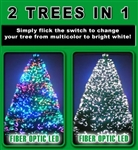 6 Foot Christmas Tree - Fiber Optic & Multi Colored
