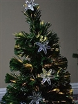High Quality 2' Pre Lit Artificial Christmas Tree Sunflower Color Change Fiber Optic
