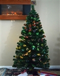 High Quality 5' Artificial Pre-Lit Christmas Tree with Color Change Fiber Optic Lights
