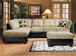 Beige Easy Rider & Espresso Bycast Sectional Sofa Set
