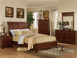 Cherry Finish Master Bedroom Set