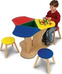 Brand New Activity Center with 3 Stools