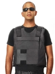NIJ IIIA Bulletproof Protective Body Armor w/ External Pocket for Additional Plates