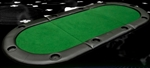 "Brand New 79"" x 36"" Padded Oval Folding Poker Table Top"