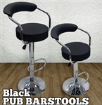 High Quality Adjustable Height Swivel Bar Stools - Set of 2