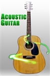 "Full Size 41"" Acoustic Guitar with Guitar Case, Strap and More"
