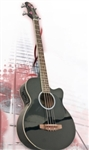 Brand New Electric/Acoustic Bass Guitar with Equalizer - Black