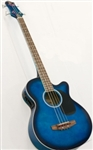 Brand New Electric/Acoustic Bass Guitar with Equalizer - Blue