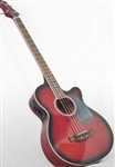 Brand New Electric/Acoustic Bass Guitar with Equalizer - Red