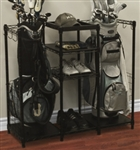 High Quality Golf Bag and Golf Shoe Rack With Shelving