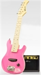 "Kids 30"" Electric Guitar Kids Guitar With Amp, Case, Strap and More - Pink"