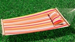 High Quality Quilted Fabric Double Spreader Bar Pillow Hammock - Red