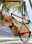 Deluxe Outdoor Hanging Air Sky Swing Hammock Chair - Tan